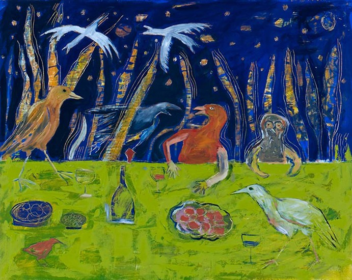 TheBirds-24inx30in-oil-and-wax